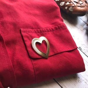 Heart vintage brooch.